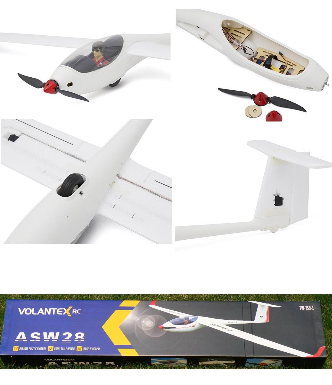 Volantex RC ASW28 V2 2 6m Plastic Unibody Scale Glider 759-1 PNP    VolantexRC