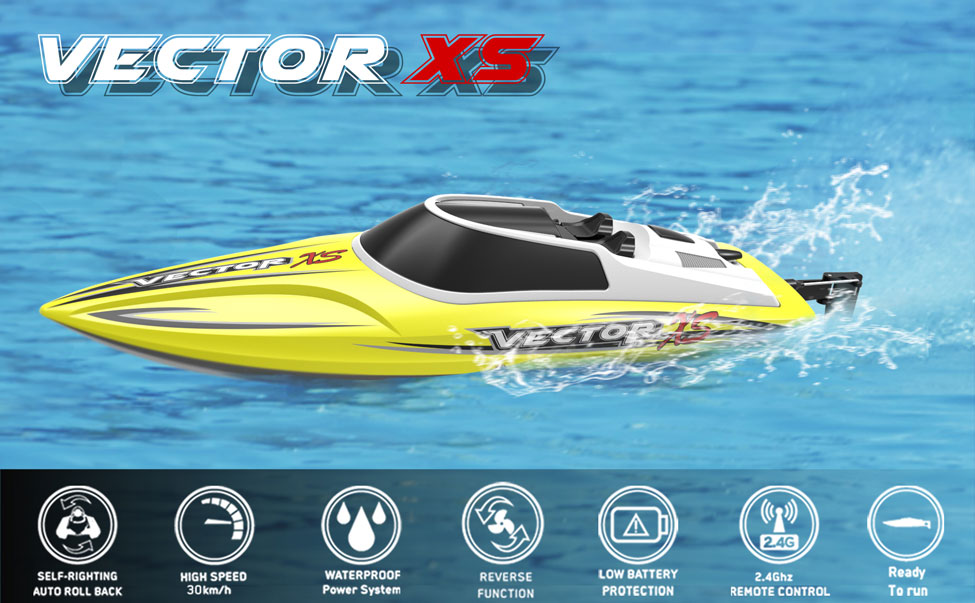 Vector Xs Mini Boat With Auto Roll Back Function And Reverse Function 795 4 Rtr 30km H