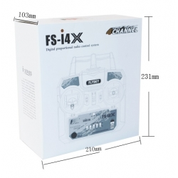 FlySky FS-i4X 2.4G 4CH AFHDS RC Transmitter Remote Control Mode 2 + Receiver FS-A6